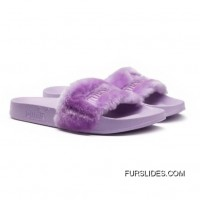 Fur Womens Slide Sandals Orchid Bloom-Puma Silver Authentic