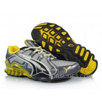 2010 Puma Running Shoes In Silver/Black/Yellow Christmas Deals QAmps