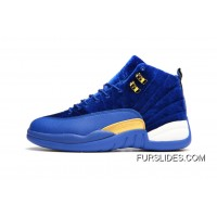JORDAN 12A J12 36---40 Blue Yellow 2017 Women Discount