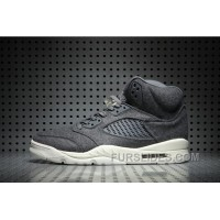 Air Jordan 5 Wool Dark Grey New Style