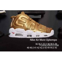 Nike Air More Uptempo White Golden Men/Women New Style