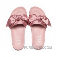 Puma X Fenty Bow Slide Silver Pink-Puma Silver Women Sandals Style Number 365774-03 New Release