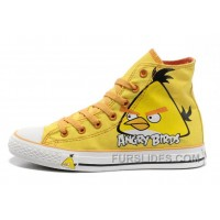 Yellow Angry Birds CONVERSE All Star Chuck Taylor High Shoes Top Deals