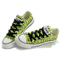CONVERSE Leopard Womens All Star Shoes Green Black Print Chuck Taylor Tops Canvas For Grils Discount