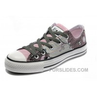 Pink CONVERSE Punk Collection Pirate Pattern Tops Canvas Shoes Lastest