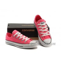 Korea Edtion Fluorescent Light Pink CONVERSE All Star Chuck Taylor Tops Canvas Shoes New Release