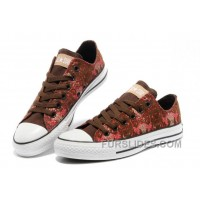 CONVERSE Chinese Year Snake Texture Chuck Taylor Brown Red Tops Canvas Sneakers Super Deals