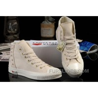 Ultimate Edition CONVERSE White Comme Des Garcons Play Chuck Tayloar All Star Beige Canvas Sneakers Super Deals