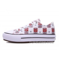 Andy Warhol X CONVERSE Women Red Platform Tomato Soup Print CT All Shoes Online