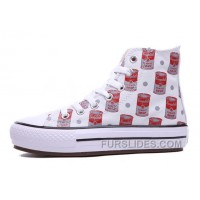 Andy Warhol X CONVERSE Women Red High Platform Tomato Soup Print CT All Shoes For Sale