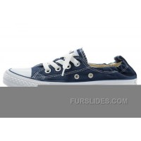 Classic Blue CONVERSE Slip On Styling Chuck Taylor Shoreline All Star Tops Canvas Shoes For Sale