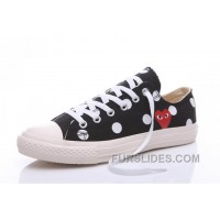 Black CONVERSE Comme Des Garcons Polka Dot Play Chuck Taylor Low Discount