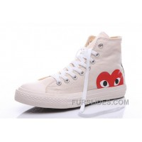 White CONVERSE Comme Des Garcons Play Chuck Taylor Hi Sneakers Online