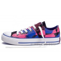 CONVERSE Dazzling Chucks Spray Painting Multi Color Red Blue Black All Star Canvas Tops Shoes Lastest