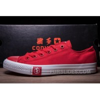 Red Cut Flash CONVERSE Chuck Taylor All Star Canvas Sneakers New Release