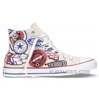 CONVERSE All Star American Retro Pattern Printing White High Ps Chuck Taylor Canvas Sneakers Cheap To Buy