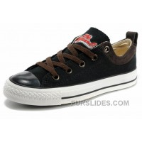 Cool CONVERSE Black S Embroidery Chucks All Star Canvas Brown Suede Easy Slip Top Deals