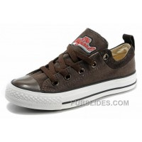 Cool CONVERSE Brown Tops Embroidery Chucks All Star Canvas Brown Suede Easy Slip Super Deals
