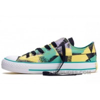 CONVERSE Chucks Spray Painting Dazzling Yellow Green Black All Star Multi Colored Canvas Tops Shoes Super Deals