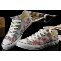 Summer CONVERSE Camouflage Nicolas Cage Soul Grey Red All Star Chucks Ps Canvas Sneakers Cheap To Buy