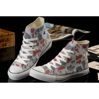 Summer CONVERSE Camouflage High S Nicolas Cage Soul Grey Red All Star Chucks Canvas Sneakers Top Deals
