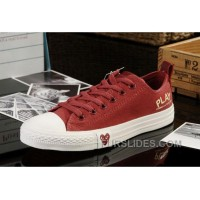 Red CONVERSE All Star Light Comme Des Garcons Play Canvas Ps Shoes Cheap To Buy