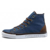 Blue Denim CONVERSE All Star Vampire Diaries High Ps Sneakers Cheap To Buy