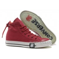 Undefeated Wine Red CONVERSE High S All Star Canvas Clear Rubber Soles Top Deals