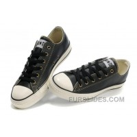 Black Leather CONVERSE All Star Overseas Edition Tops Trainer Lastest
