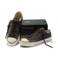 Brown Leather CONVERSE All Star Overseas Edition Tops Shoes Super Deals