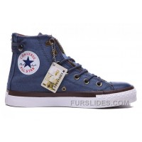 Blue High CONVERSE Double Zip Lover Chuck Taylor All Star Canvas Authentic