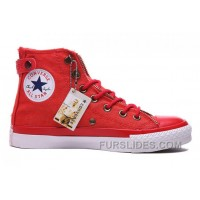 Red CONVERSE Double Zip Lover Chuck Taylor All Star High Tops Canvas Free Shipping