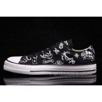 CONVERSE Chuck Taylor All Star 70 Black White Pattern Low Discount