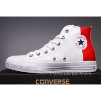 CONVERSE Red Leather Two Panels Chuck Taylor All Star High Tops Online