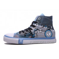 Blue High Ps CONVERSE Chuck Taylor Punk Skull Pirate All Star Cheap To Buy