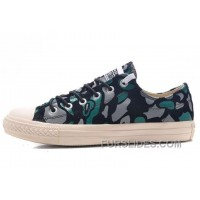 CONVERSE All Star Suede Camouflage Chuck Taylor Sneakers Black Green Grey Authentic