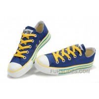 Blue CONVERSE All Star Multi Lines Tops Canvas Trainer Authentic