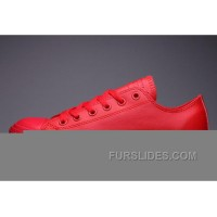 Classic All Star All Red CONVERSE Chuck Taylor All Star Leather Low Free Shipping
