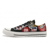 Black CONVERSE American Retro Pattern Printing S Chuck Taylor All Star Canvas Sneakers Top Deals