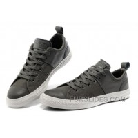 CONVERSE Chuck Taylor Grey All Star City Lights Tops Black Leather Canvas Sneakers Authentic