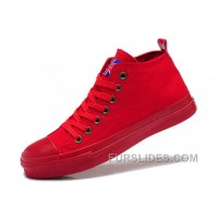 Monochromatic Red CONVERSE UK Union Flag Mid Ps Chuck Taylor All Star Canvas Sneakers Cheap To Buy