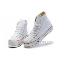 White Classic Platforms CONVERSE All Star Canvas Women Shoes New Release