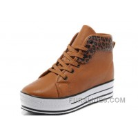 CONVERSE All Star Platform Maroon Leather Leopard Discount