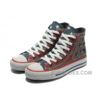 Red Grey CONVERSE American Flag Metal All Star The End Of The World Canvas Shoes Online