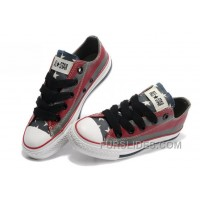 All Star CONVERSE American Flag Painted Grey Red Stripes Canvas Shoes Online