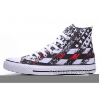 Unisex Red CONVERSE American Flag Print Chuck Taylor All Star Authentic