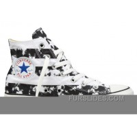 CONVERSE American Flag Black And White Chuck Taylor All Star Canvas Shoes Cheap To Buy