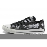 CONVERSE American Flag Graffiti Print Black White Chuck Taylor All Star Sneakers Online