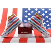 Jointly American Flag CONVERSE Chuck Taylor All Star Multi Colored Stripes High Tops Sneakers New Release
