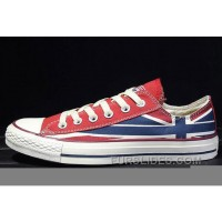 CONVERSE Rock Union Jack British Flag Red Blue Chuck Taylor All Star Canvas Sneakers Authentic